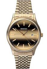 Sekonda Gents Gold Plated Tigers Eye Watch - 3740-SNP
