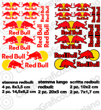 Kit 12 Adesivi Bubble Free Red Bull Universali auto moto racing