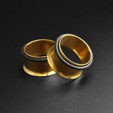 PVD Ohr Messgeräte Flesh Ohr Tunnel Gold PVD Einzel Flare Tunnel SIBJ Qualität