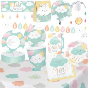 Sunshine Cloud Baby Shower Party Tableware, Decorations & Balloons