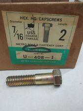 7/16-14 X 2 HEX HEAD CAPSCREWS 25 PCS DURA DI CHROMA (ZZ0294)