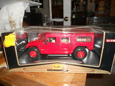 MAISTO M998 HUMMER HUMVEE Red Hard Top 1:18 Scale Premiere edition display unit