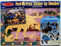 Melissa & Doug Peel and Press Sticker by Number Activity Kit: Dinosaur Dusk New