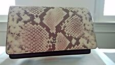 Coach F14930 Foldover Clutch Crossbody In Python Embossed Leather new