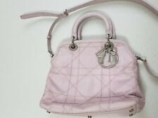 623d8f7e1256 Authentic Christian Dior Granville Light Pink Cannage Lambskin Leather 2Way  Bag