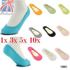 UK Lady Girls Invisible Boat Socks No Show Ballerina Elastic Loafer Footie S005