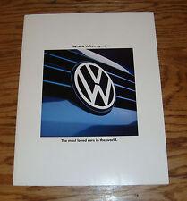 Original 1994 Volkswagen VW Full Line Sales Brochure 94 Jetta Cabrio Golf