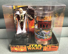 Star Wars General Grievous Collectible Glass & Figure Set New Sealed