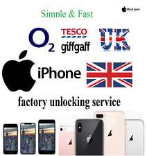 O2 & Tesco Unlocking Service UK Factory Unlock all Apple iPhone & iPad supported