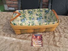 2000 Longaberger Heartland Floral Print Basket Leather Handle Insert