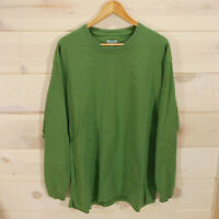 Duluth Trading Co Men's Sz L Longtail T Long Sleeve T-Shirt Green Chest 49""