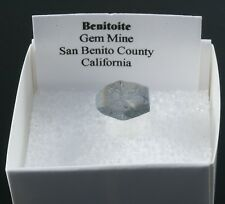 "BENITOITE Small Natural Crystal Specimen 0.50""w/ Healing Property Card"