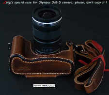 LUIGI CASE+GRIP for OLYMPUS OM-D NATURAL AGED BROWN,STRAP+fast UPS/DHL INCLUDED!