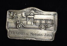AN-005 - NV General Motors Java Metal Emblem - Original RARE Vintage 1920's