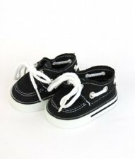 """Black Sneakers For 15"""" Or 18"""" American Girl Boy Doll or Other 18"""" Dolls Shoes"""