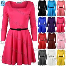 Unbranded Square Neck Party 3/4 Sleeve Dresses for Women