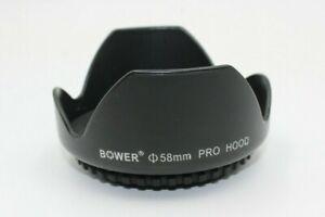 Bower 58mm Pro Hood Lens Hood Lens Shade