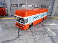 MERCEDES BENZ O317 PORSCHE Renntransporter Gulf John LKW Le Mans Schuco 1:43