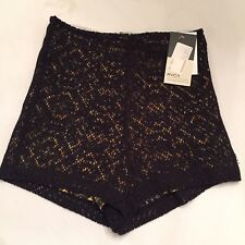 RVCA Woman's Stretch Lace Shorts Black Size Small NWT