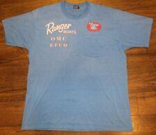Vintage Mens Ranger Boats Blue S/S Pocket Shirt Size XL Shriners Bass Tournament
