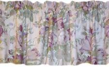 New Fortuna floral window drapery purple, beige, green Valance Waverly Lined