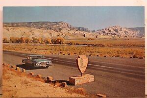 Utah UT Jensen Dinosaur National Monument Blue Mountain Postcard Old Vintage PC