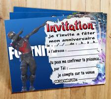 Cartes invitation anniversaire jeux video par  6 ou 12