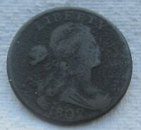 1802 1C BN Draped Bust Large Cent Fine Details Corrosion