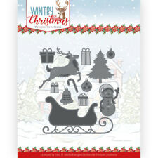 Stanz-schablone cutting die Christmas Ho h ho Snowmann Yvonne Creation YCD10248