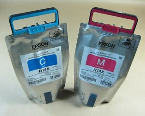 [1270*] 2x (TWO) EPSON R14X INKS - CYAN & MAGENTA ( RRP>$900 )