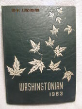 1963 Yearbook Washington High School IN Grades 7-12 Sectional Basketbal Champs