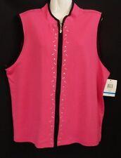 "Brand New ""Breckenridge"" - Plus Size XL - Pink Sleeveless Top/Jacket"