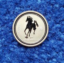 Lunar I Jahr des Pferd Year of the Horse 2002 1/20 OZ Gold Australien