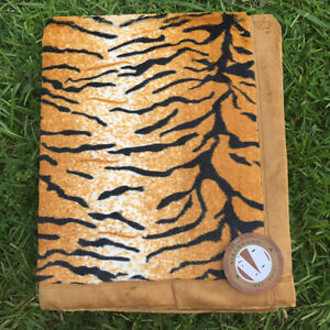 Animal Print Throw Blanket - Tiger Faux Fur