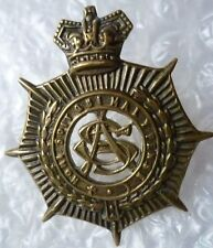 Badge- VICTORIAN Army Service Corps Cap Badge QVC (BRASS, 100% Genuine*)