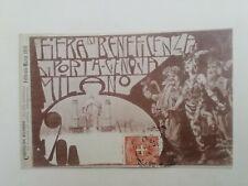 Cartolina fiera di beneficenza porta Genova Milano 1900 Stroppa Mario