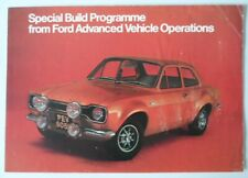 FORD ESCORT MEXICO & RS1600 orig c1972 UK Mkt  AVO Special Build Brochure - RS