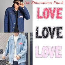 Sticker Motifs Iron-on Hotfix Clothing Accessories Rhinestone Patches LOVE