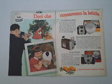 advertising Pubblicità 1959 KODAK BROWNIE STARLET/RETINETTE