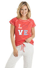 Ladies/ Womens Pyjama Set PJs Nightwear Long/Short Sleeve Set 2 Piece Set S-XXL
