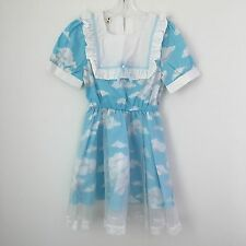 Cute Kawaii Fairy Kei Pastel Lolita Ruffle Sheer Tulle Lace Clouds Mini Dress !!