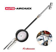"Auto Airchuck Tyre Inflator Deflator 3.5"" Gauge Dual Head 160Psi Tire Air Chuck"
