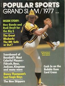 1977 Popular Sports Baseball magazine, Randy Jones, San Diego Padres Fidrych VG