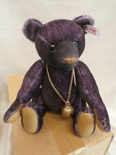 """Steiff mohair Teddy Bear ~ """"MONTY"""" ~  NIB LE 642/1500 Purple 035166 Growler"""