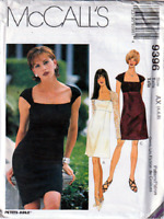 McCall;s 9396 Misses Empire Waist Dress with Square Neckline Pattern Sizes 4~8