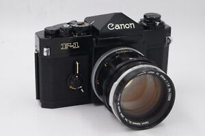 Canon F1 film camera with 85mm F1.8 FL lens