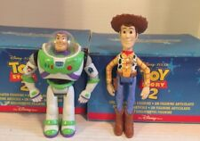 NIB Disney Store 1999 Pixar Toy Story Buzz Lightyear & Woody Ceramic Figurines