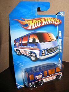 Hot Wheels 2010 #116 HW City Works #8 GMC MOTORHOME Blue BF Goodrich Tires