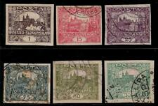 CZECHOSLOVAKIA 1919 Old Imperf Stamps - Hradcany at Prague