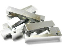 L11161 1/10 Scale Alloy Support Block Bridge x 10 M3 3mm Thread Silver 8mm Long
